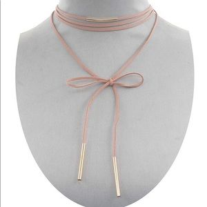 Jewelry - New blush pink wrap around corded necklace 💗